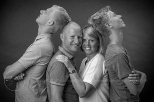 Familie portret in studio